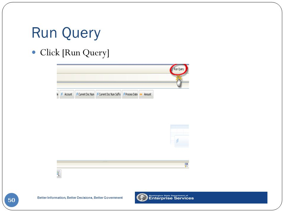 Run Query Click [Run Query]